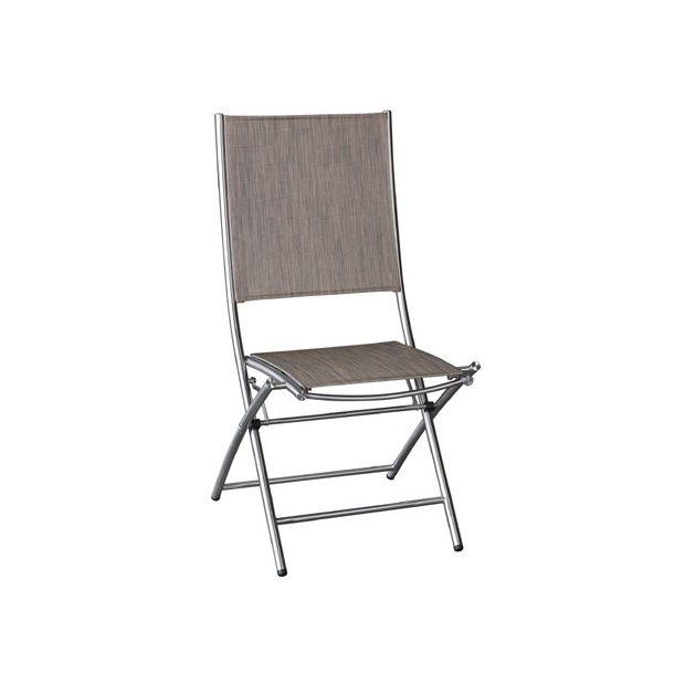 De Lot Inox 2 Chaise Pliante Textilène iOkuXZP