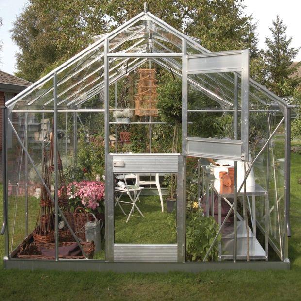Serre en verre horticole Junior 9.90 m² aluminium + embase - Juliana ...