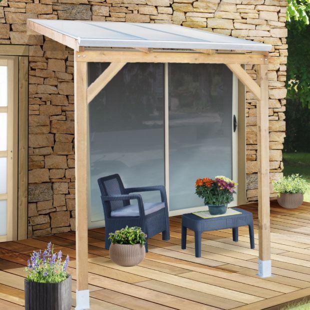 pergola adoss e bois trait toiture polycarbonate 3x2 m 3. Black Bedroom Furniture Sets. Home Design Ideas