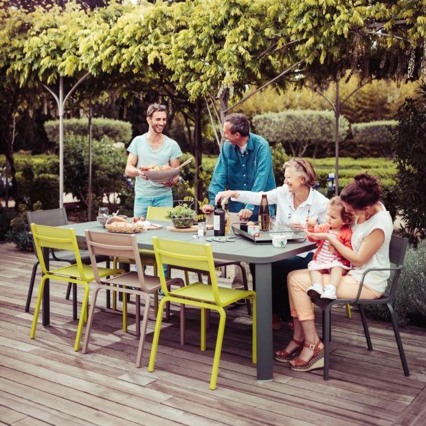 Salon de jardin Fermob Oléron : table + 6 chaises + 2 fauteuils ...