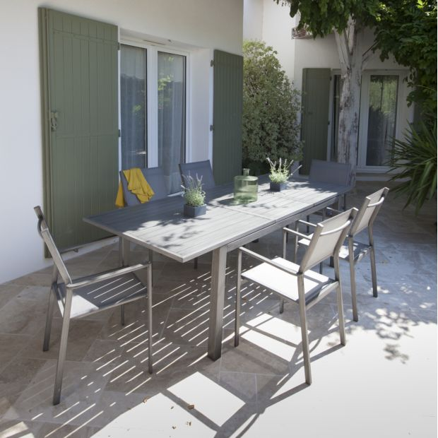 Salon de jardin Proloisirs trieste : 6 pers. en aluminium