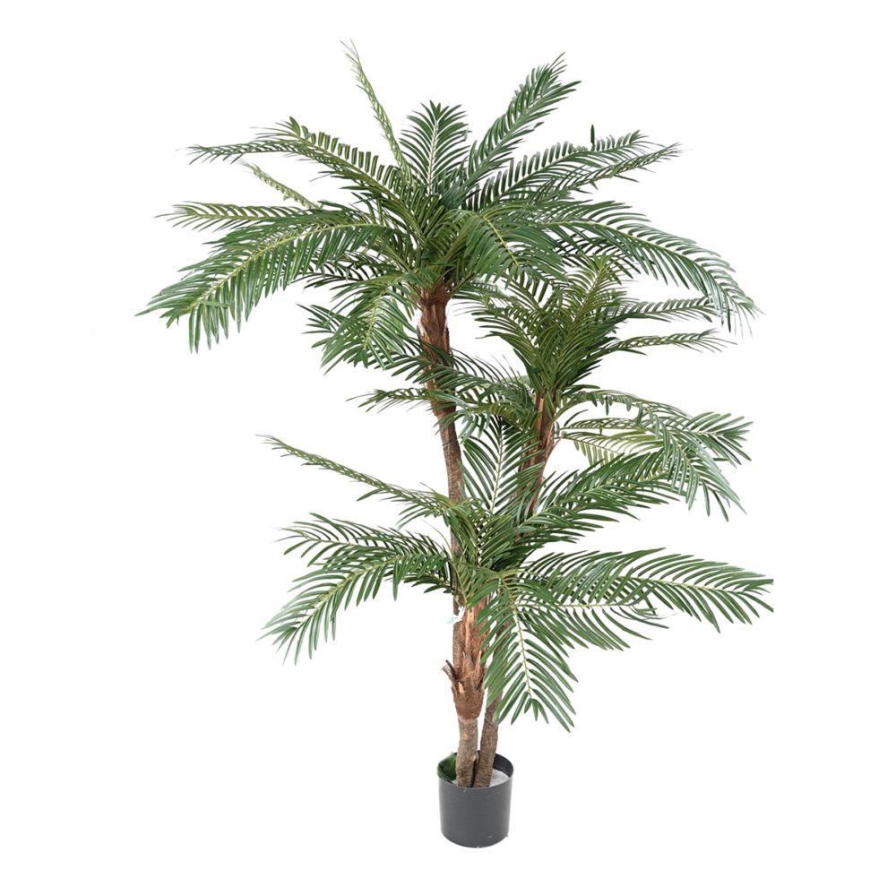 Palmier 3 Troncs H160cm (tronc semi naturel, feuillage artificiel) non rempoté