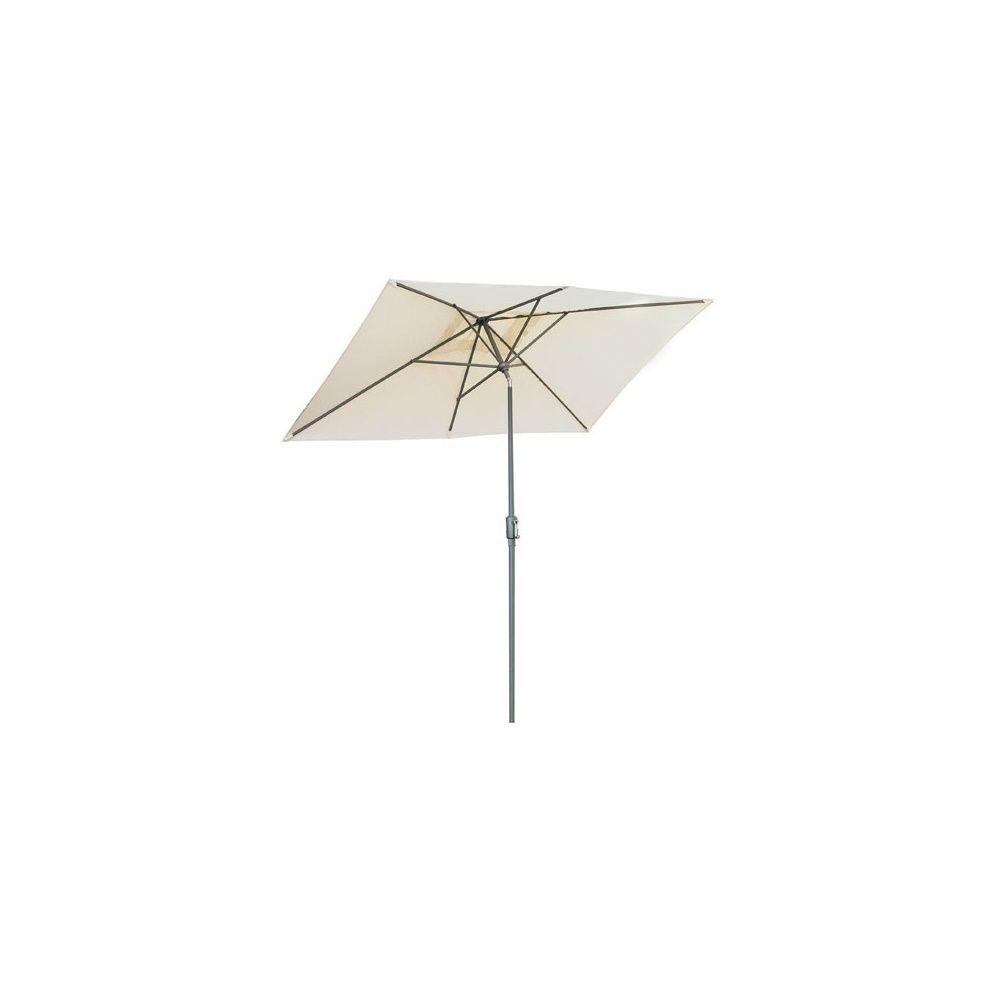 Parasol inclinable 200 x 300 cm en aluminium et toile polyester