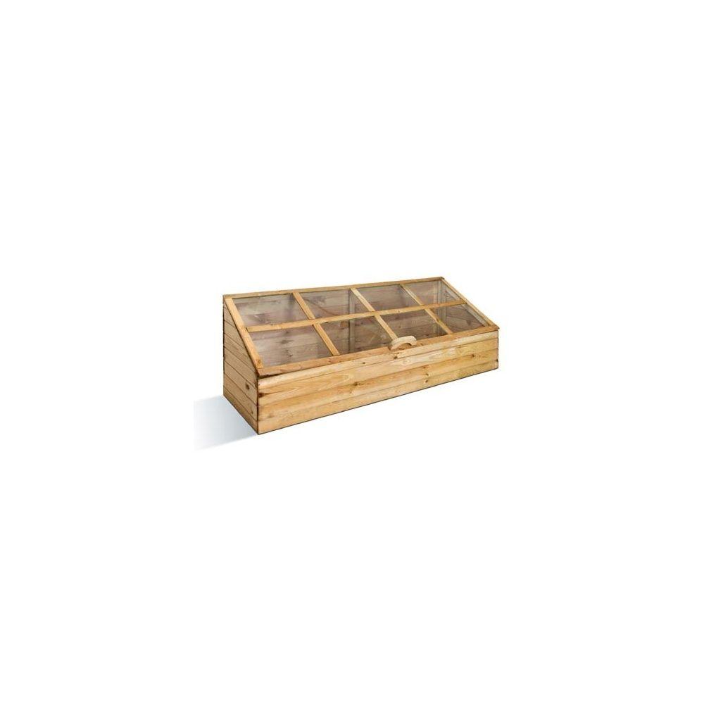 Serre châssis quadruple en bois FSC - Jardipolys