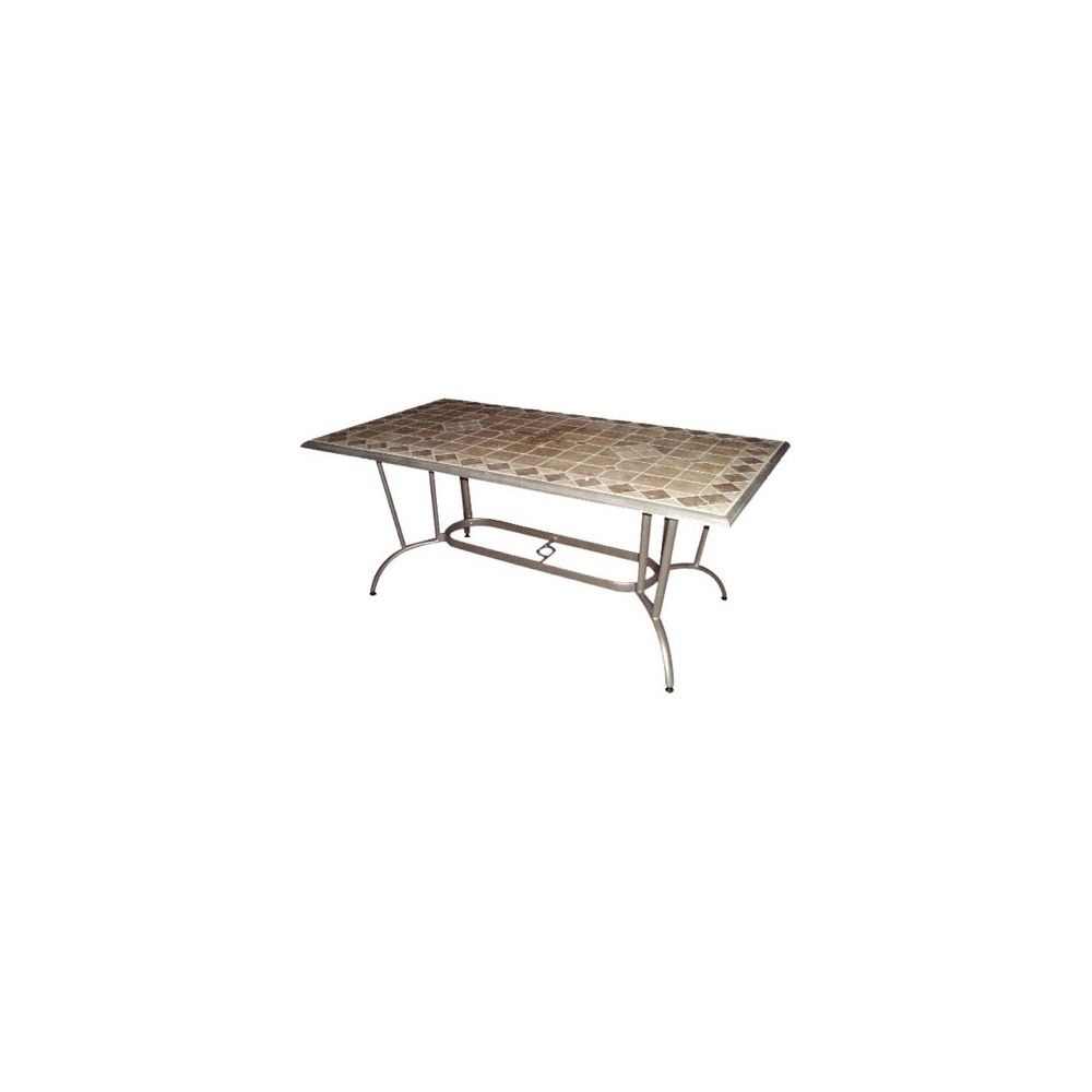 Table travertin rectangulaire L188 x l 104 cm
