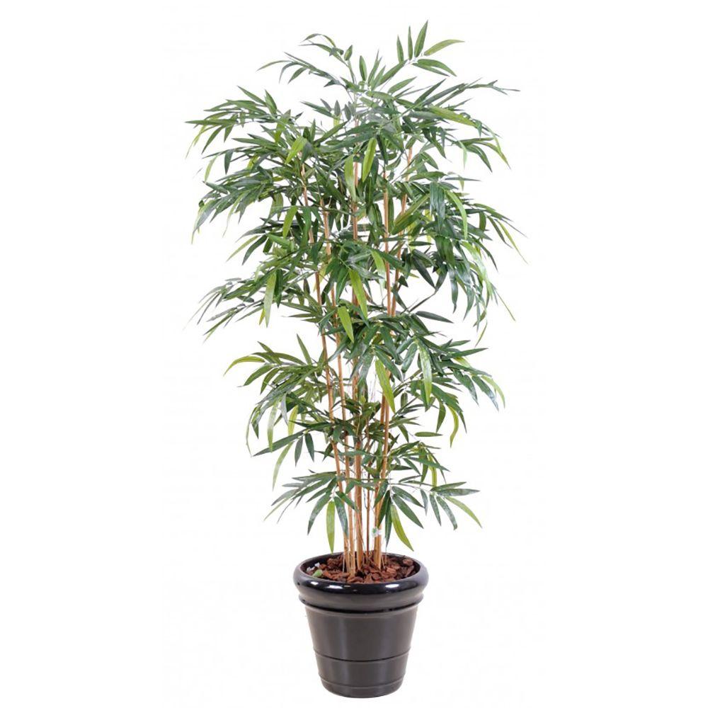 Bambou artificiel 6 chaumes H180cm (chaumes naturels, feuillage artificiel) non rempoté