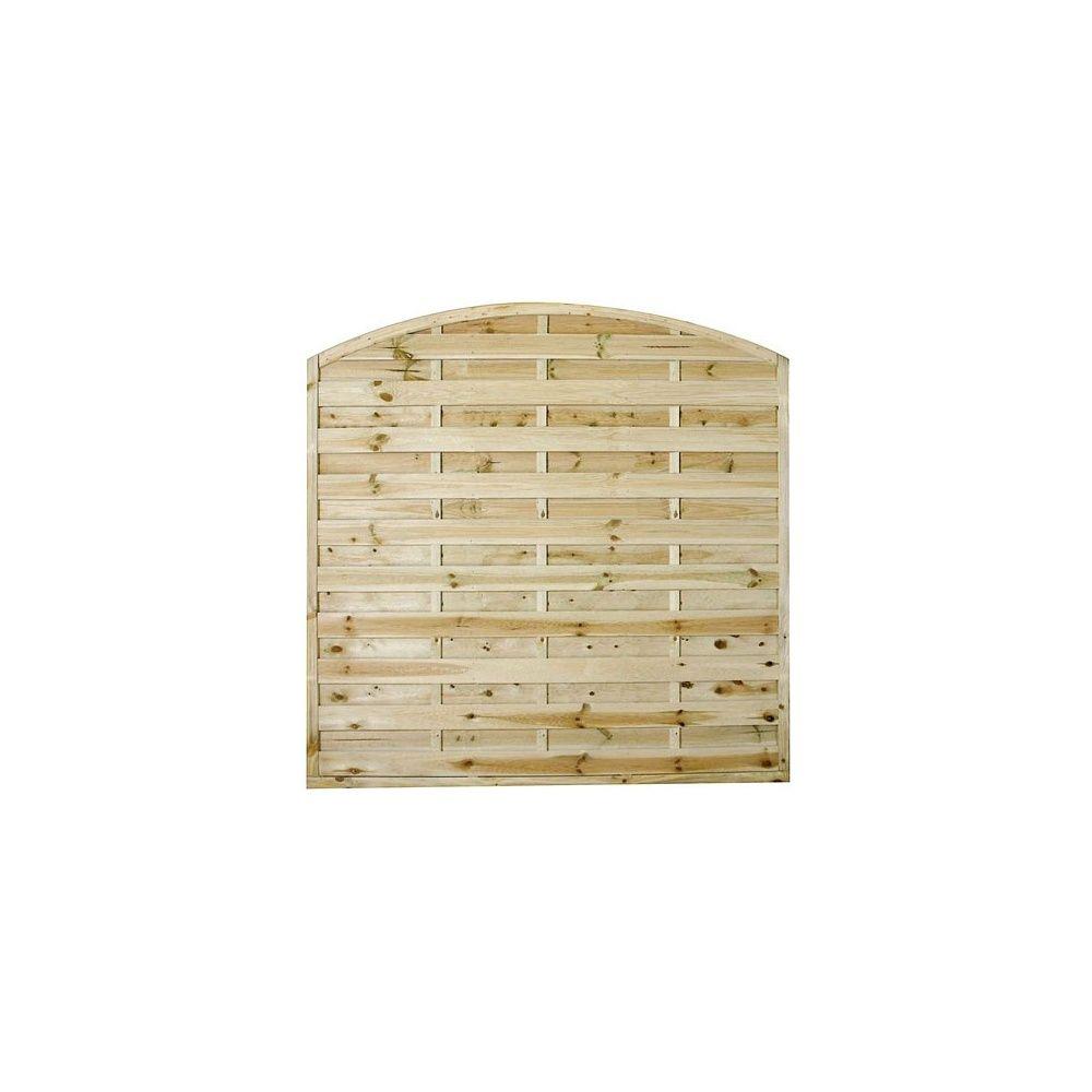 Ecrire Sur Panneau Bois panneaux décoratifs (lot de 10) arqués en bois pour clôture ou occultation  - 180x180