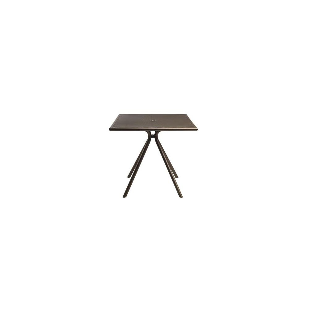 Table de jardin 80 x 80 cm en métal maillé - coloris marron d\'inde - EMU