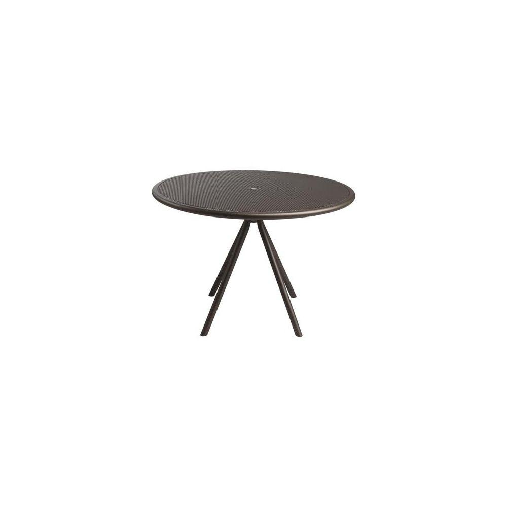 Table ronde D 122 cm en métal maillé - coloris fer ancien - EMU