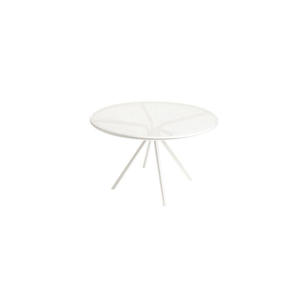 Table ronde D 108 cm en métal maillé - coloris blanc - EMU