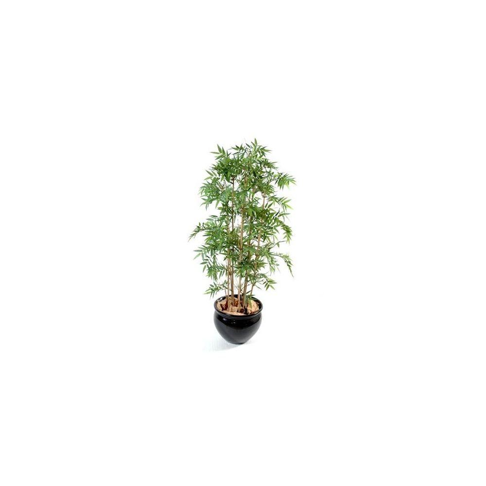 Bambou oriental (tronc naturel, feuillage artificiel) 110cm