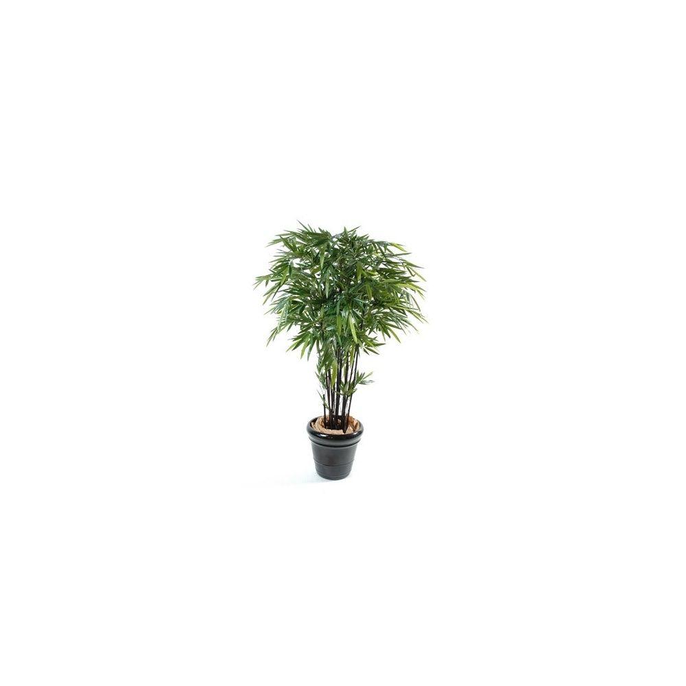 Bambou black natural (tronc naturel, feuillage artificiel) 12 chaumes 1m50