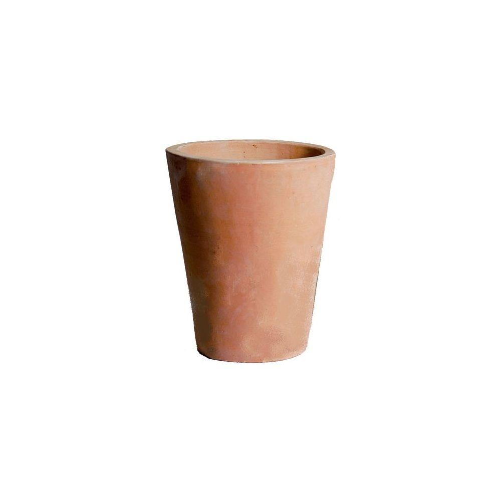 Pot Jardin Grande Taille pot conique conihi en terre cuite - diamètre 32 cm - hauteur 39 cm