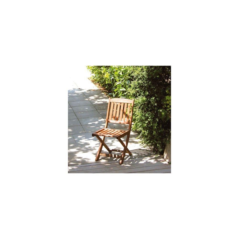 Lot de deux chaises pliantes en bois keruing - Gamm Vert
