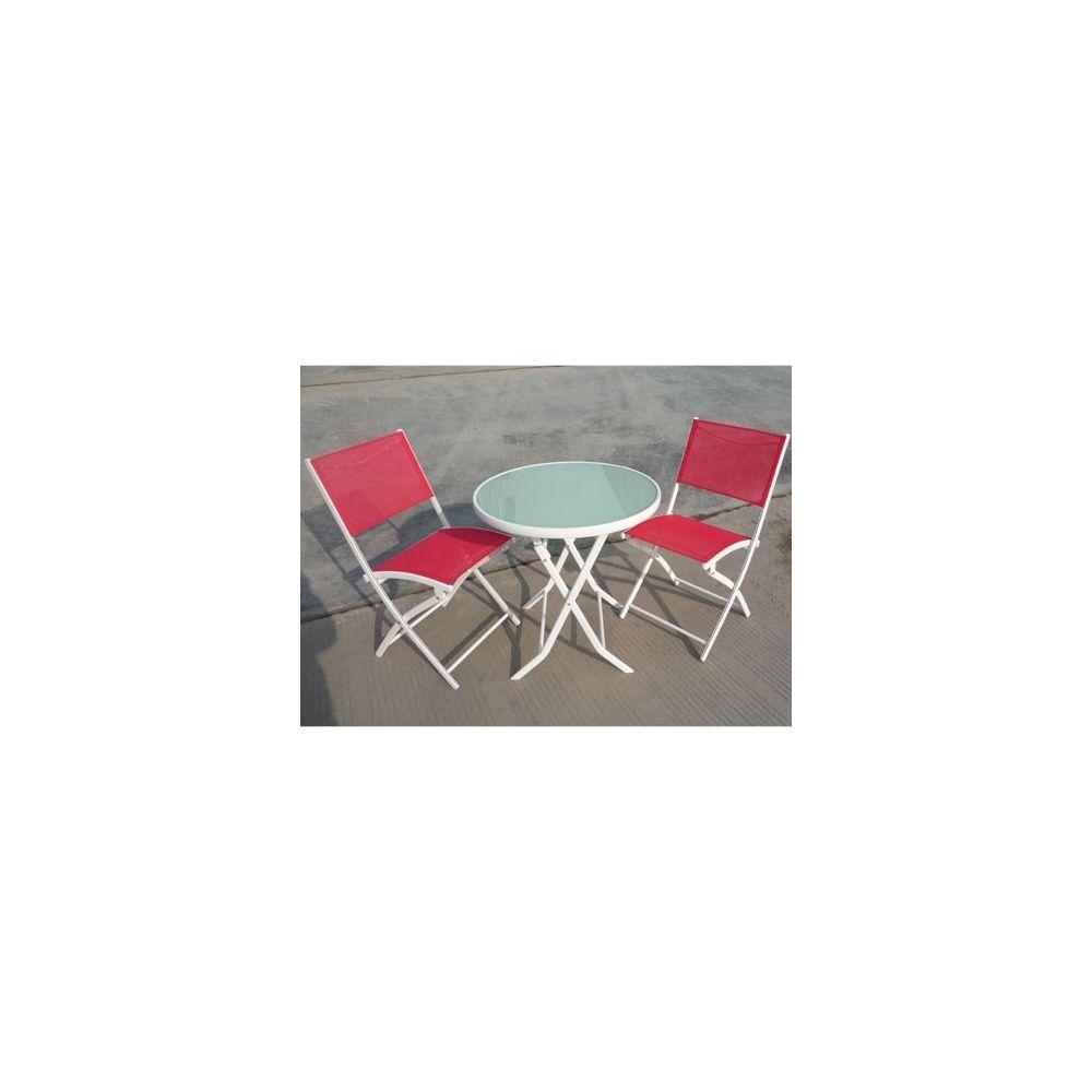 Salon de jardin bistro: table pliante+2chaises pliantes - Dream ...