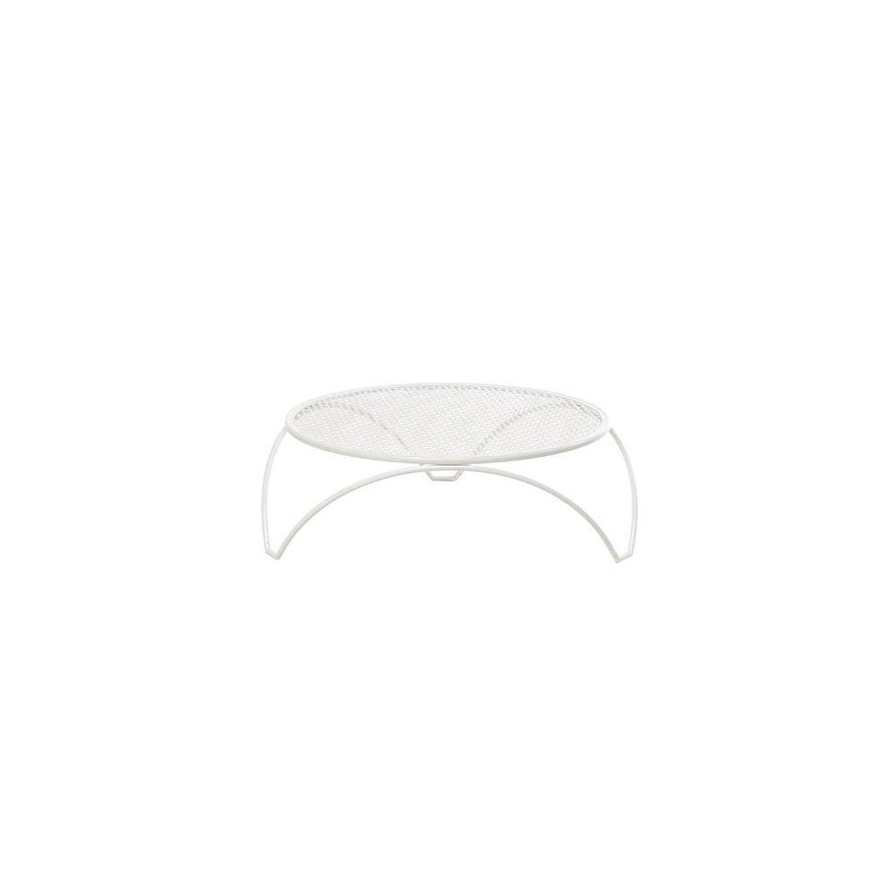 Table basse de jardin Vera en acier perforé D 80 cm - coloris blanc - EMU