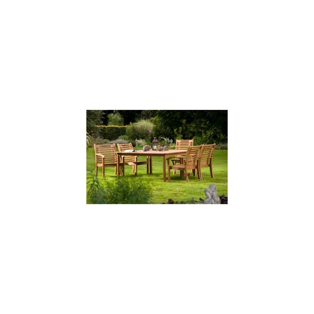 Salon de jardin carré en bois exotique 8 places Lake Sylva