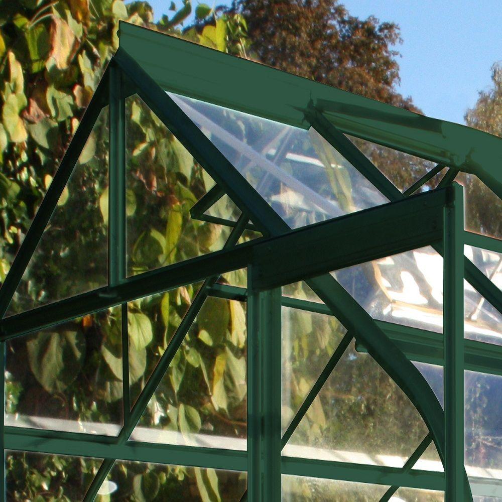 Serre en verre trempé Supreme vert 11.4 m² - Halls