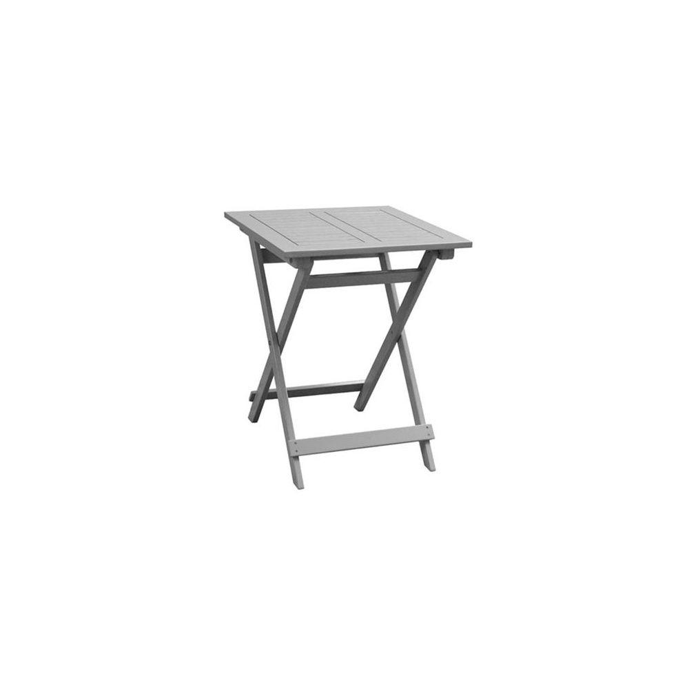 Table de jardin bois Balcon 60 x 60 cm 1 colis 85 x 62 x 14 cm ...