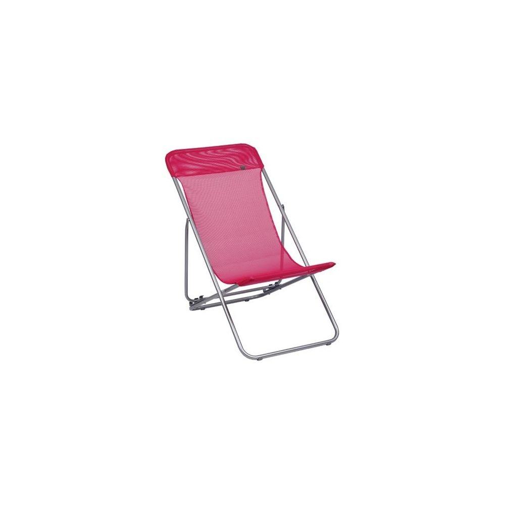 Chaise longue pliante Transatube Lafuma Framboise