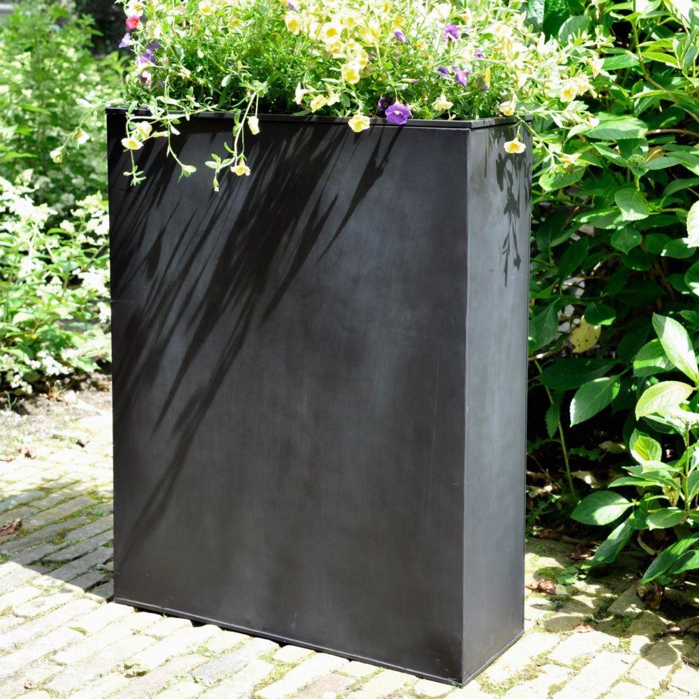 Bac A Fleur Grande Taille bac à fleurs acier l80 h92 cm noir