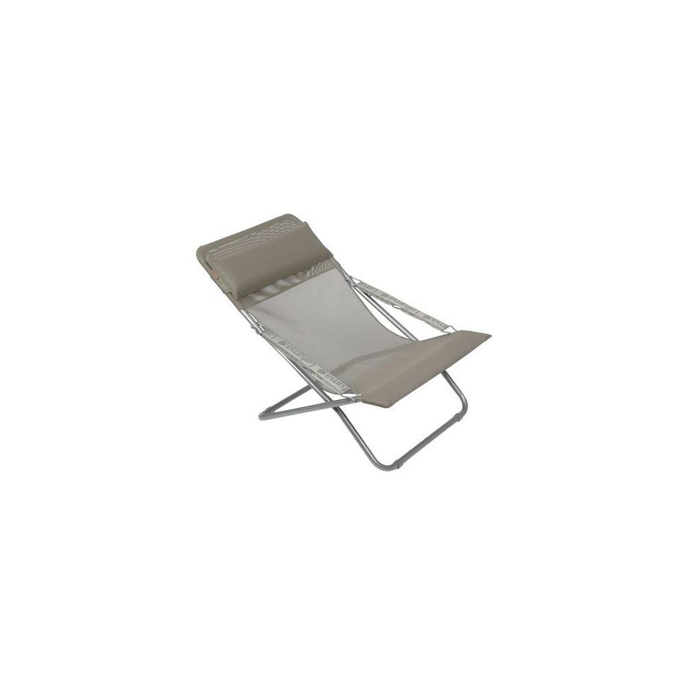 Chaise longue pliante \'Seigle\' Transabed XL plus Lafuma