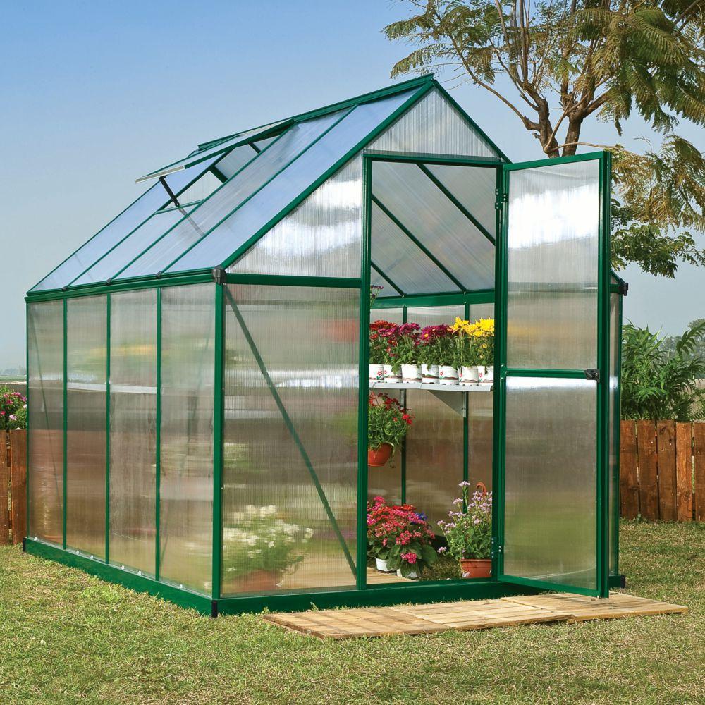 Serre polycarbonate Mythos 4.50 m² vert + embase - Palram