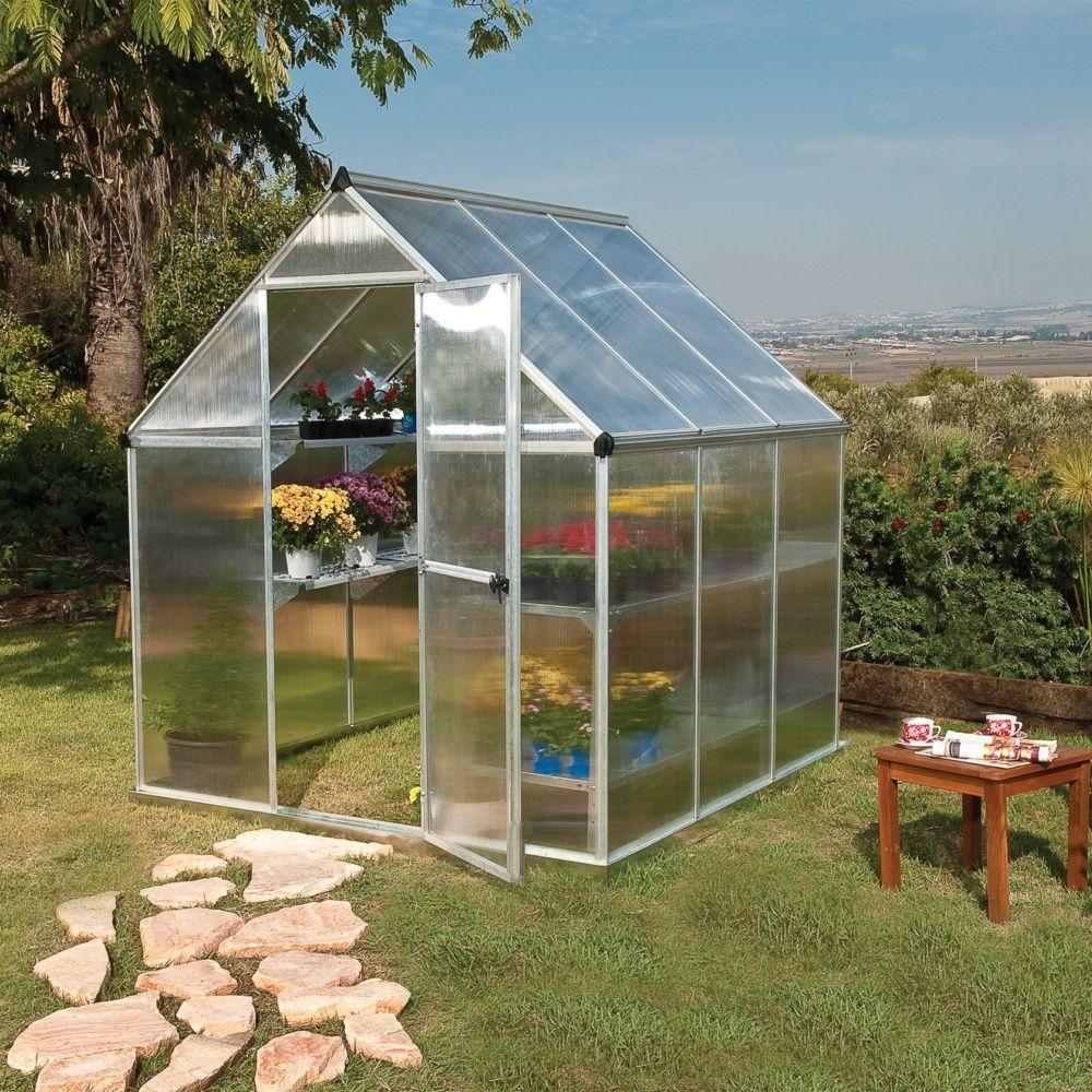 Serre de jardin Mythos polycarbonate 3,40 m² + embase - Palram 2 ...