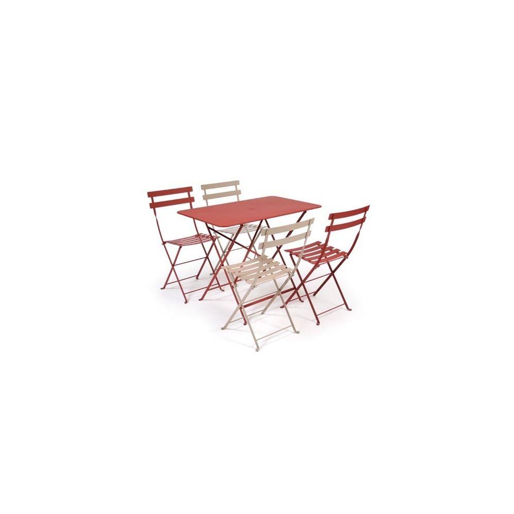 Salon de jardin Fermob Bistro : Table l97 L57 cm + 4 chaises 1 ...