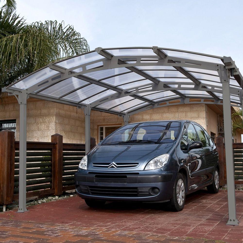 Serre de jardin - Carport acier et toit polycarbonate Arcadia : 1 voiture - 18,17 m² - Serre de jardin GammVert