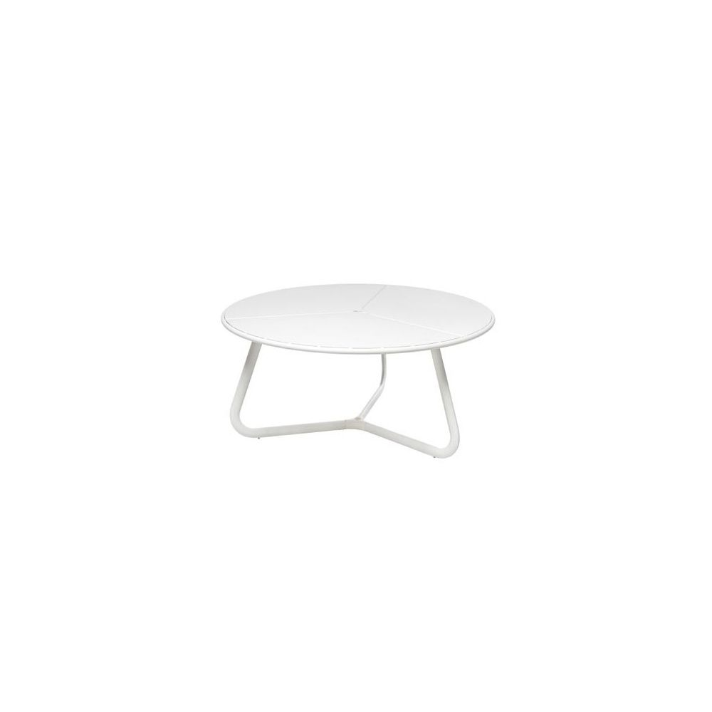 Table de jardin ronde Orbital D 160 cm en acier vernis - coloris blanc - EMU
