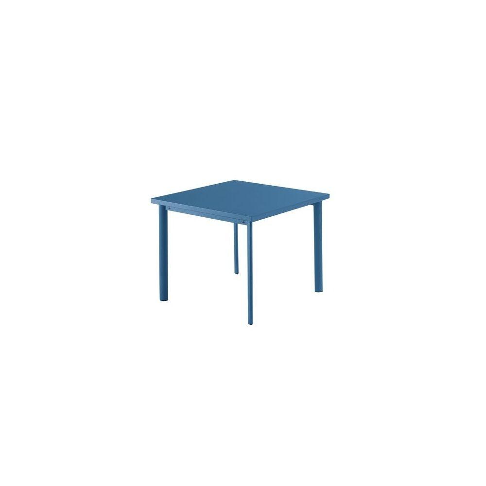Table de jardin carrée Star 90 x 90 cm en acier vernis - coloris ...