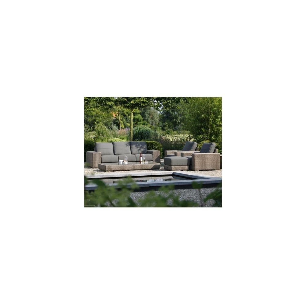 Salon De Jardin Kingston Canape 3 Places 2 Fauteuils Repose