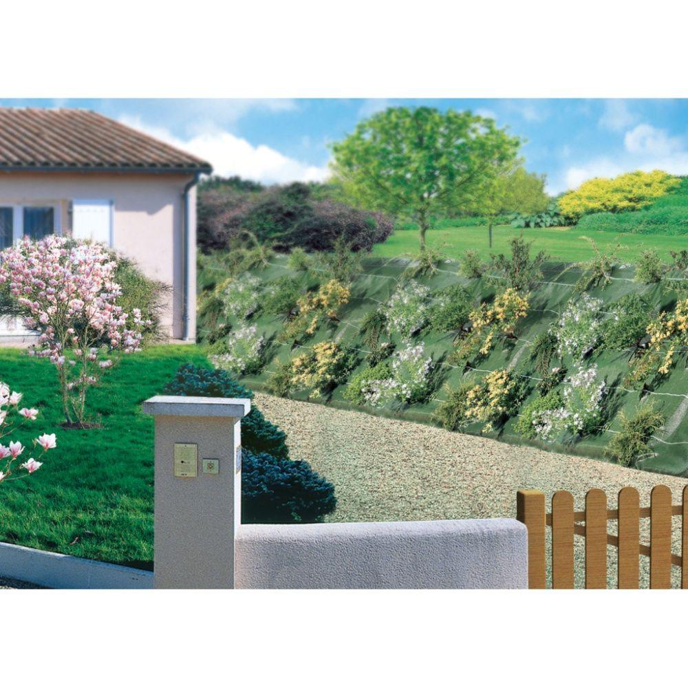 Planter Dans Un Talus toile de paillage 1,25m x 25m verte