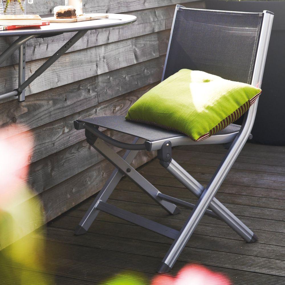 Chaise pliante Kettler Basic Plus argent/anthracite Colis 110 x 54 x ...