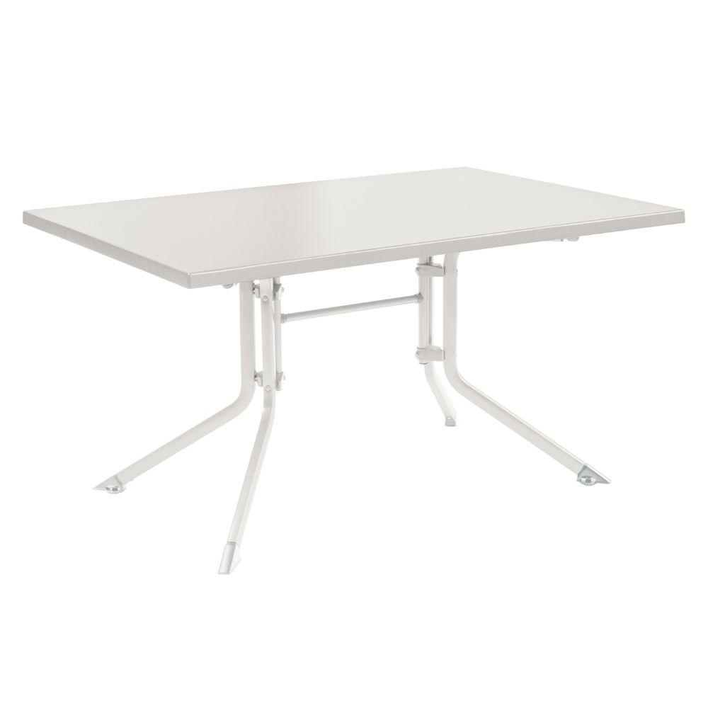 Table de jardin pliante résine Kettler L140 l95 cm blanc