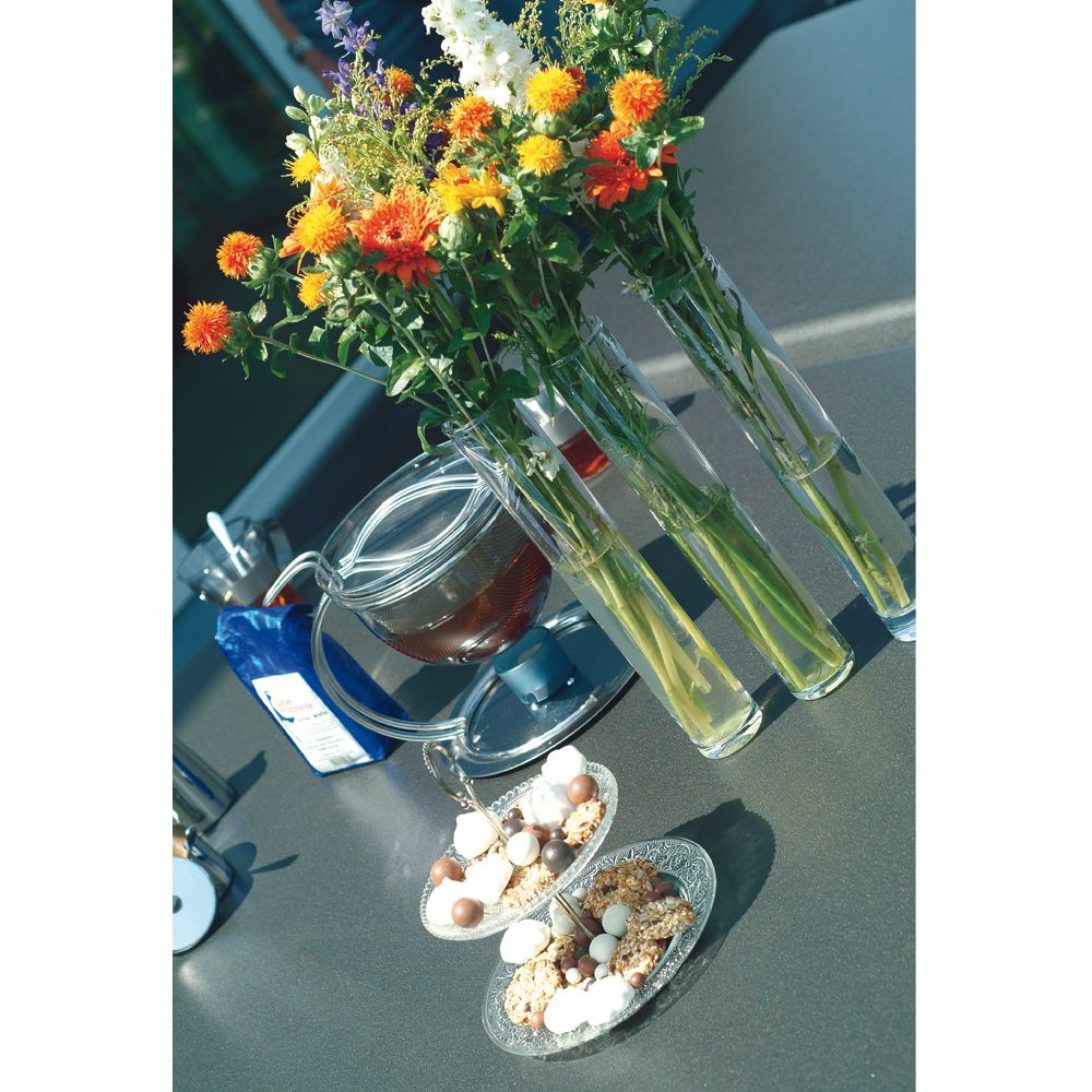 Table de jardin pliante résine Kettler L160 l95 cm argent/anthracite