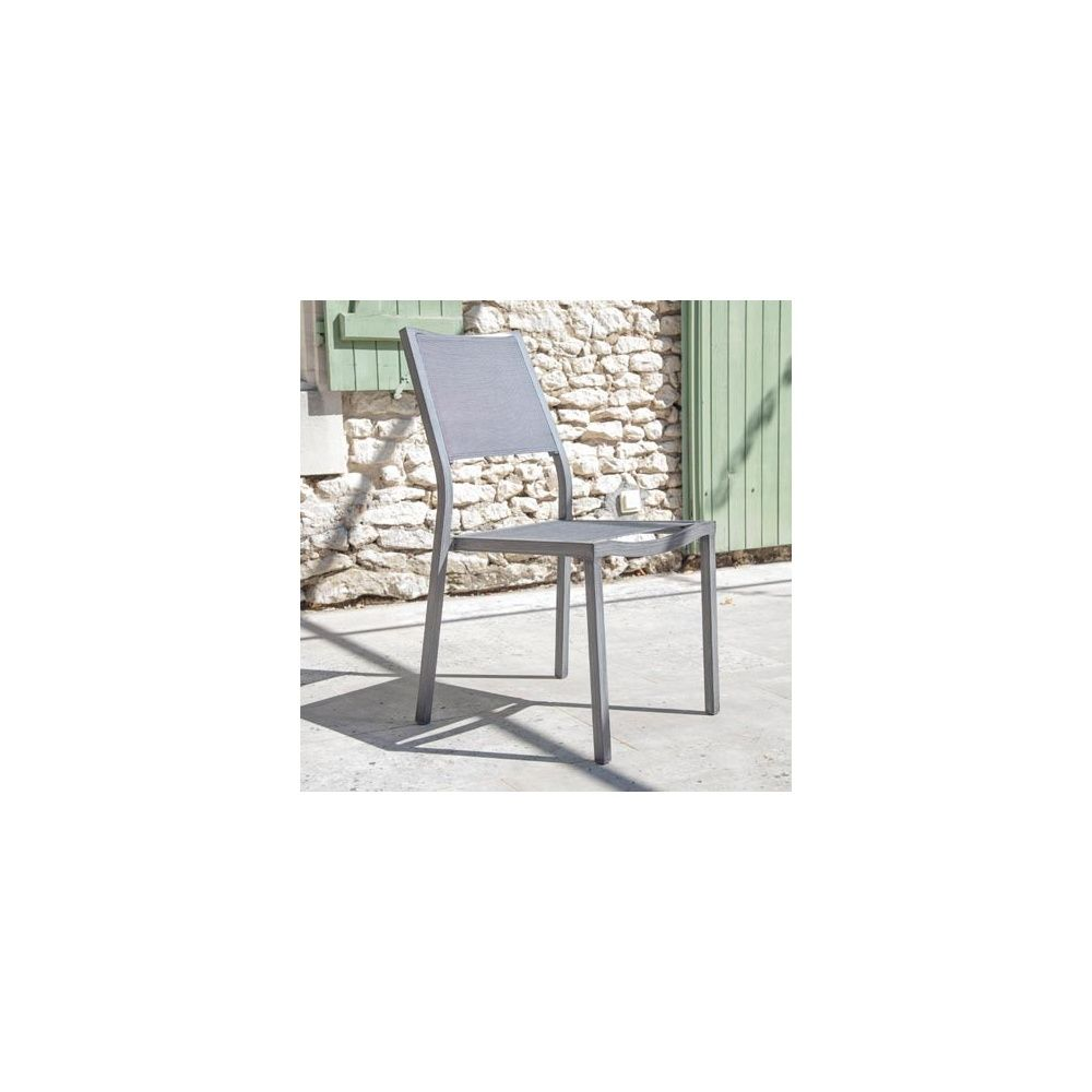 Chaise de jardin Florence aluminium/textilène argent