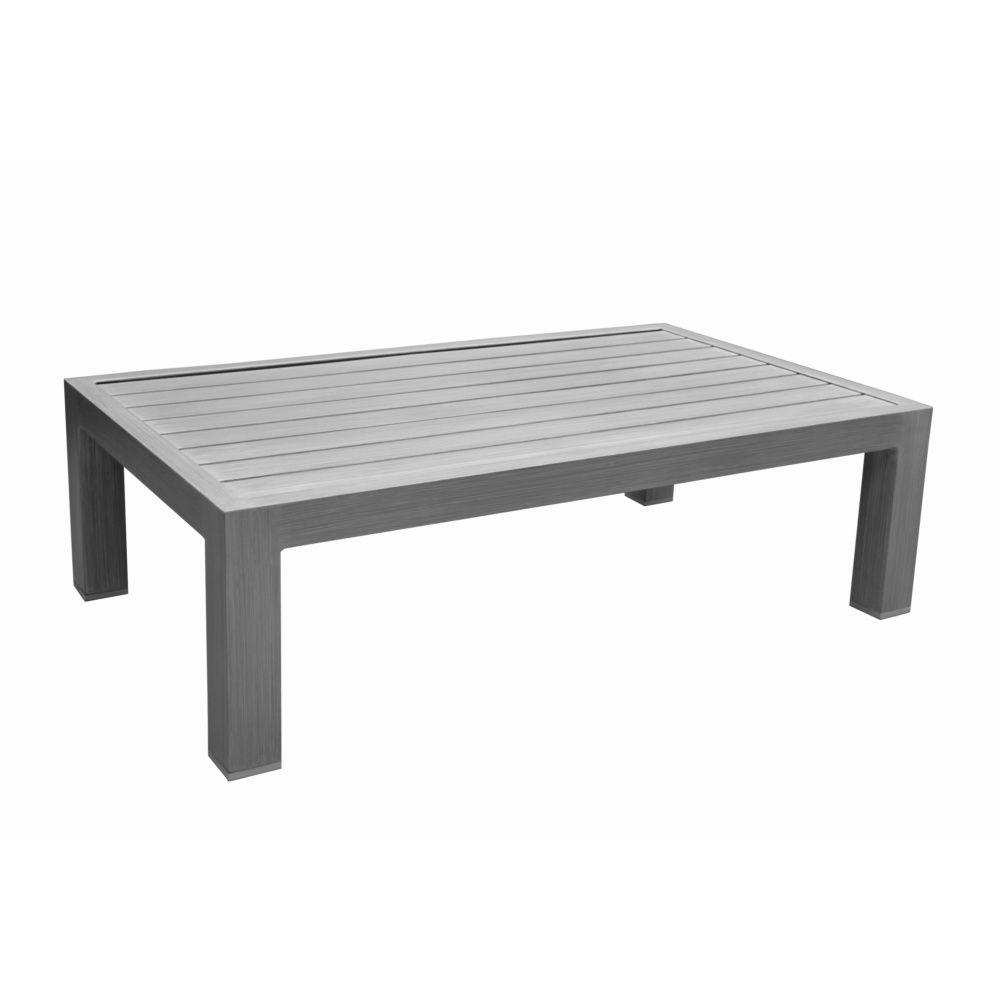 Aluminium Gris L81 Table Milano Cm Basse H40 LA543Rjq