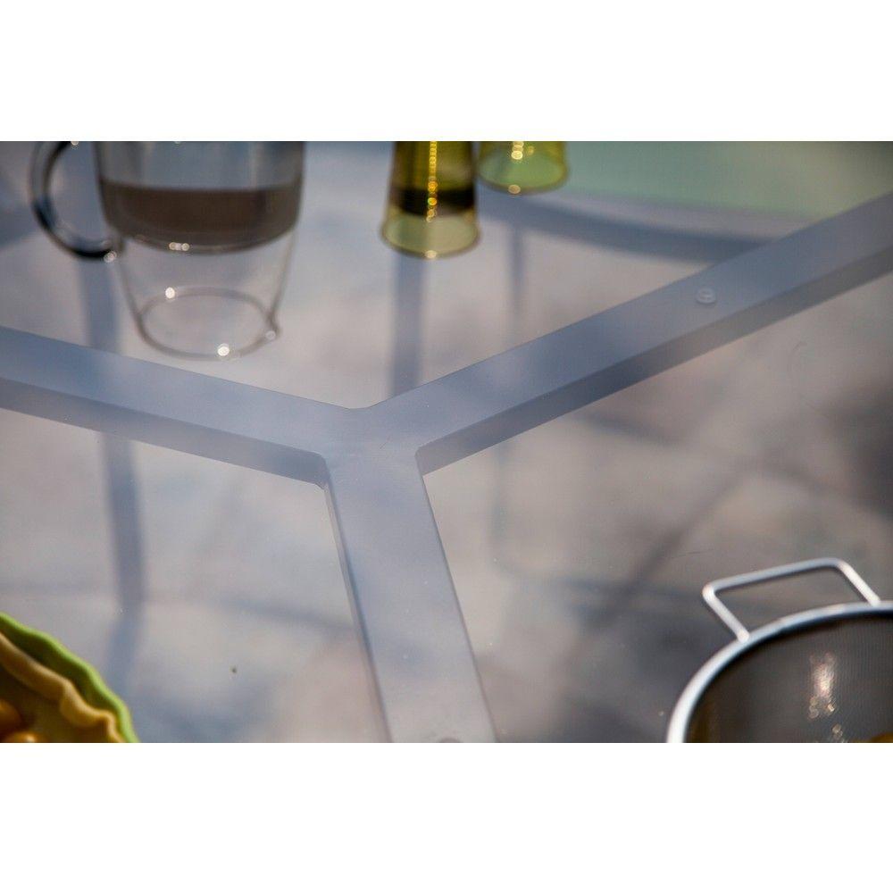 Table de jardin Malaga aluminium l160 L160 cm anthracite