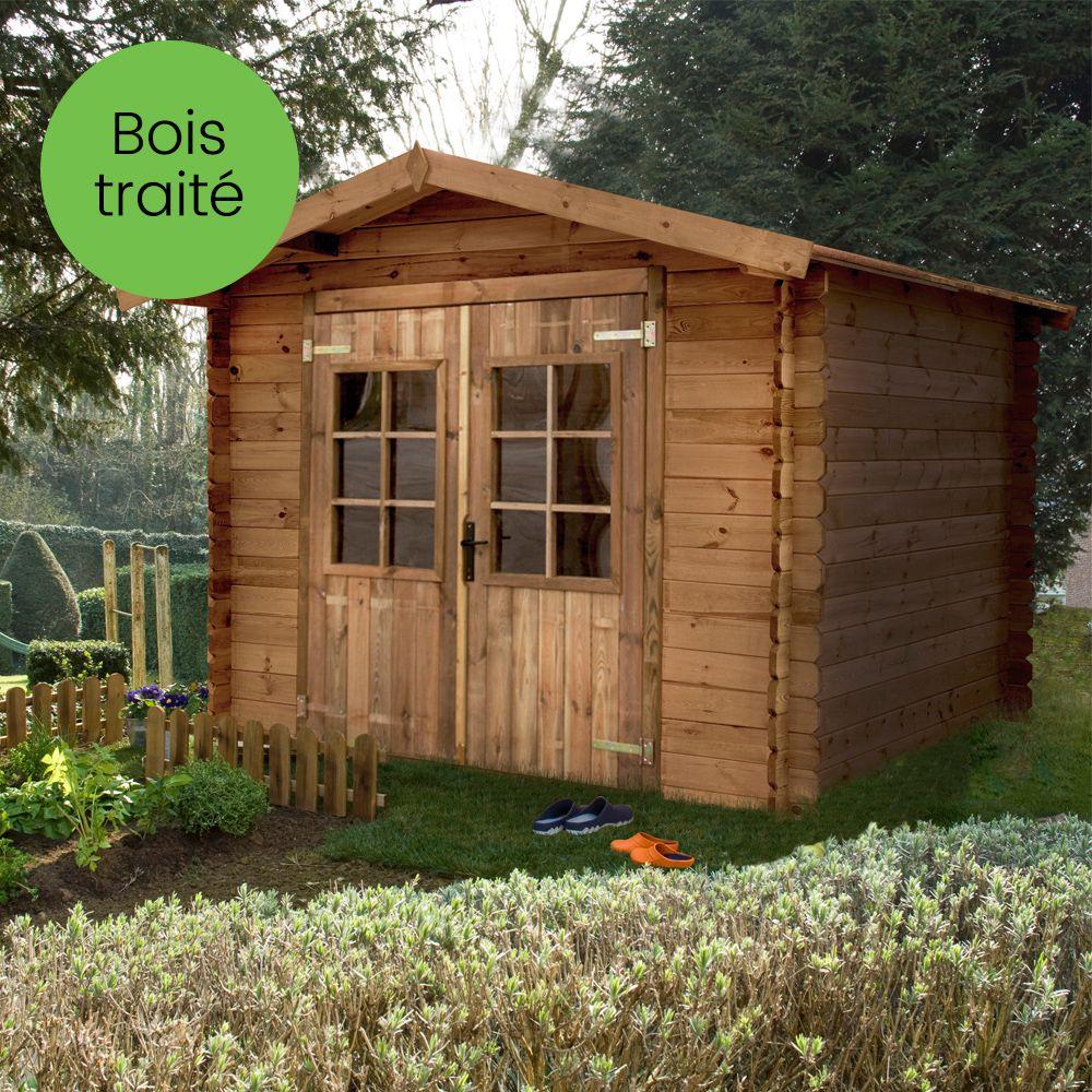 Abri de jardin bois traité autoclave 7,18 m² Ep. 19 mm Monda Palette ...