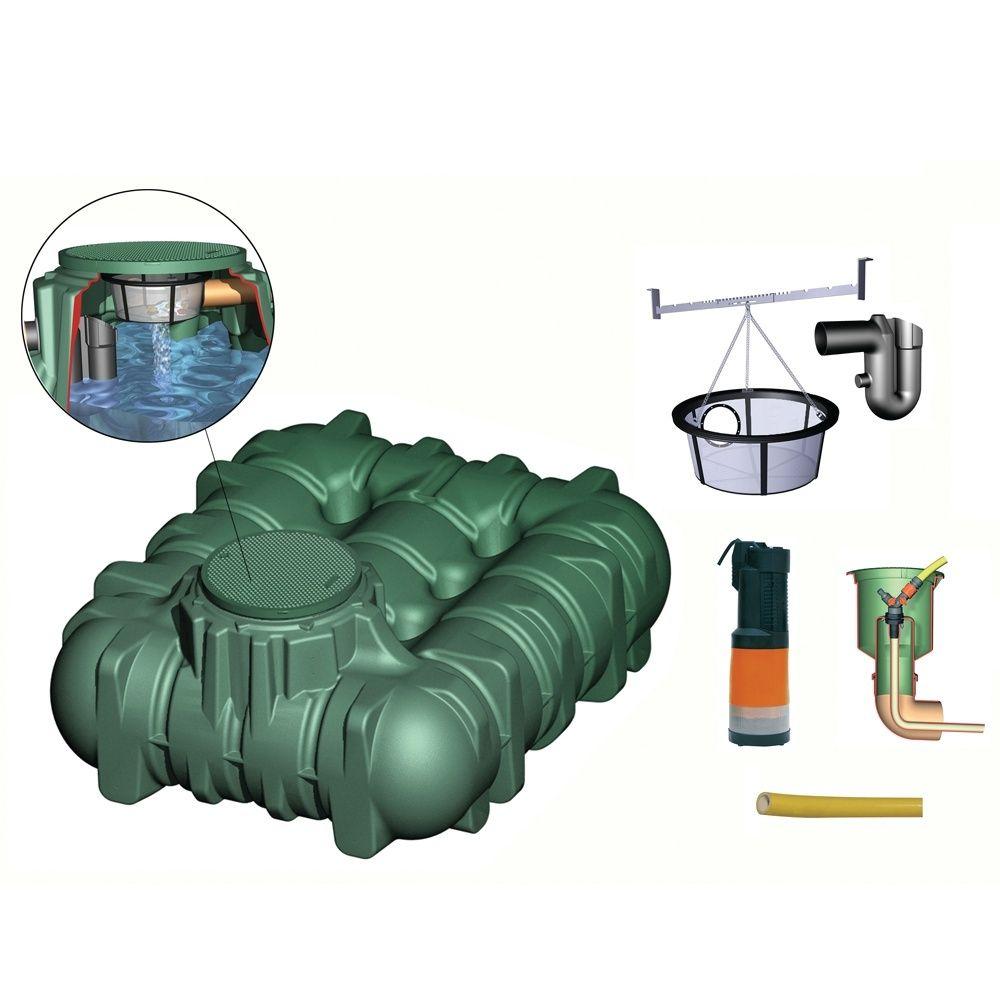 Récupérateur d\'eau LI-LO confort 3000L passage piéton, Garantia
