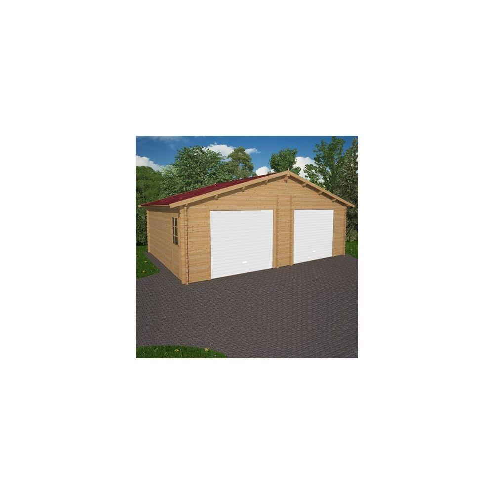 Garage Double 700 X 580cm De 40 M2 En Bois Epaisseur 48 Cm