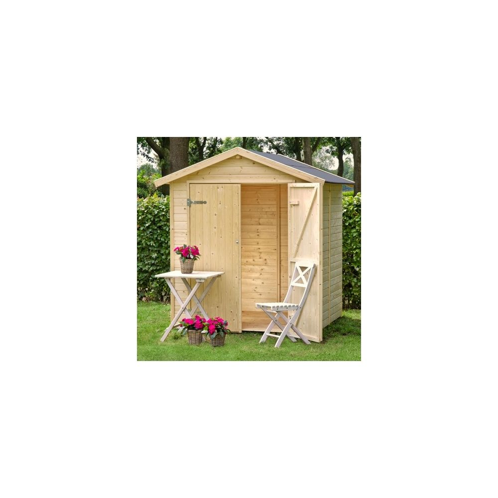 Abri de jardin nyland m hors tout en bois 14 mm avec - Abris de jardin avec plancher ...