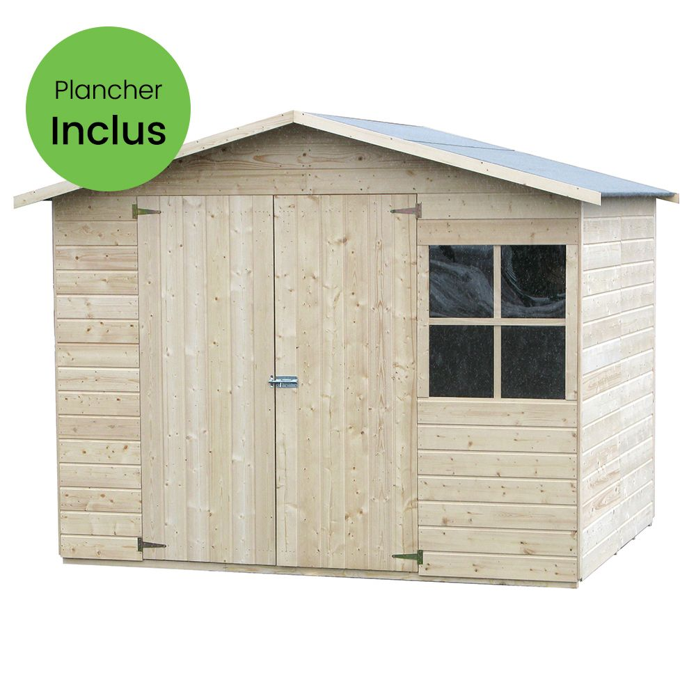 Cabane Jardin En Palette abri de jardin bois avec plancher 5.29 m² ep.12 mm loguec