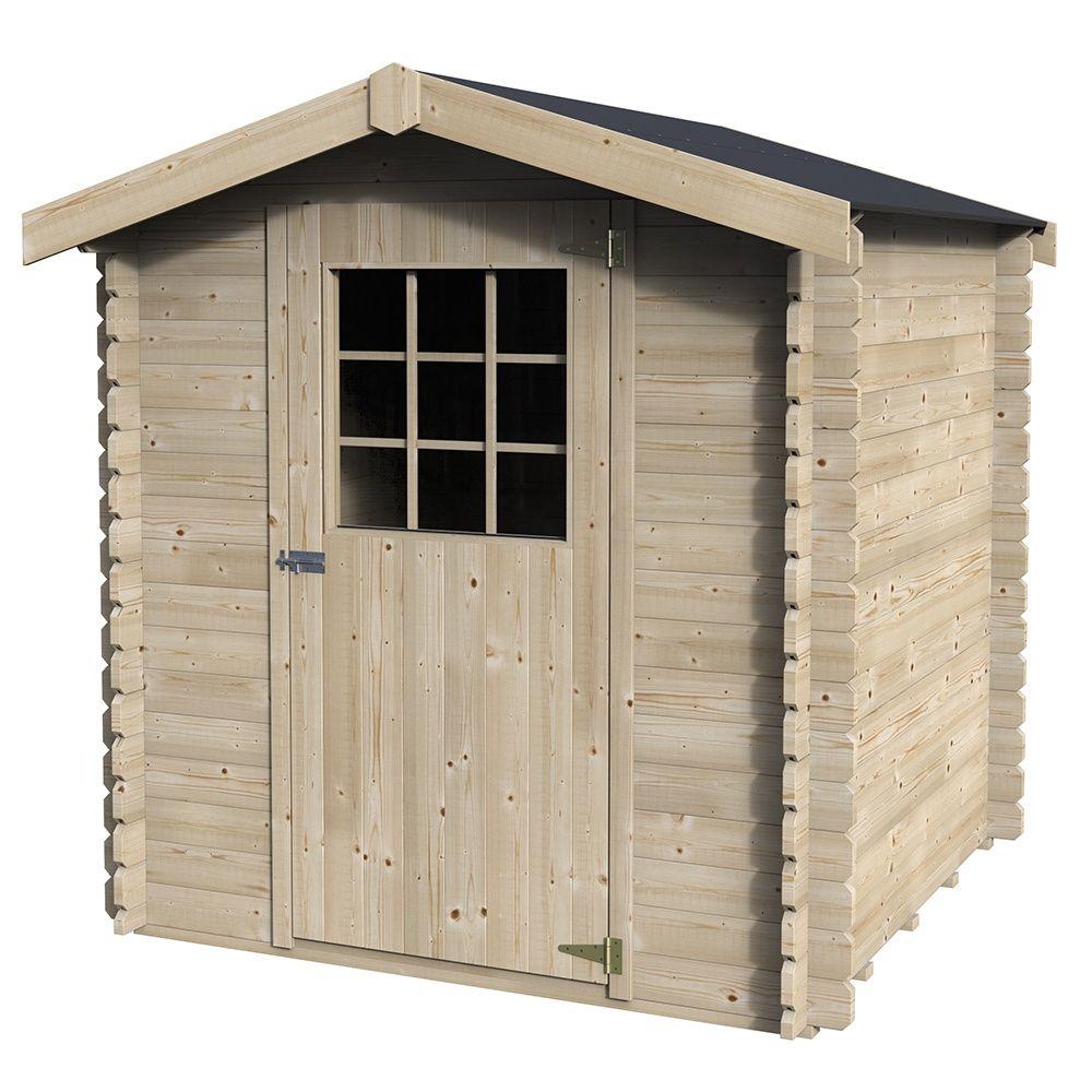 Petit abri de jardin bois 4 41 m ep 28 mm flosiba 3 - Abri de jardin monsieur bricolage ...