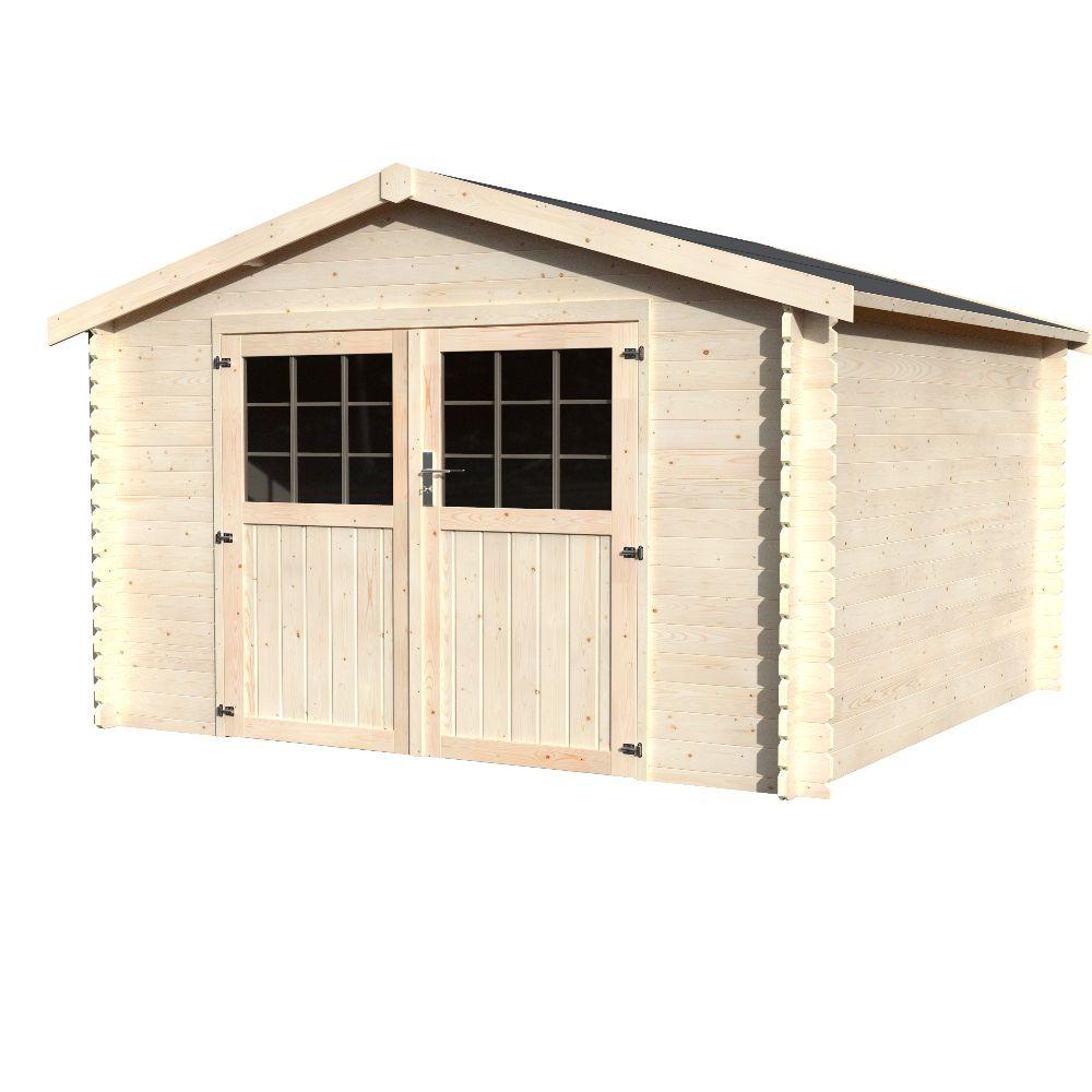 Abri de jardin bois Flover 9,99 m² Ep. 28 mm