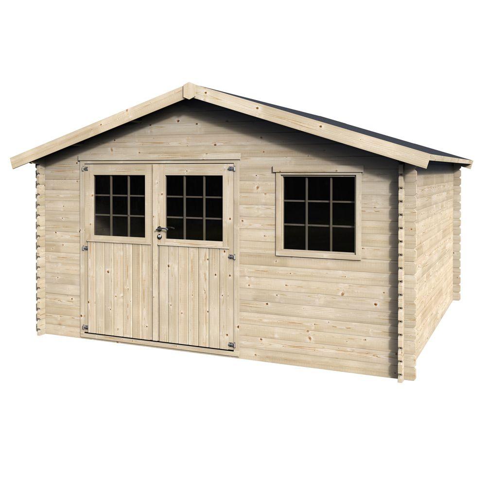 abri de jardin bois 17 72 m mm valfor 1 palette l 4. Black Bedroom Furniture Sets. Home Design Ideas
