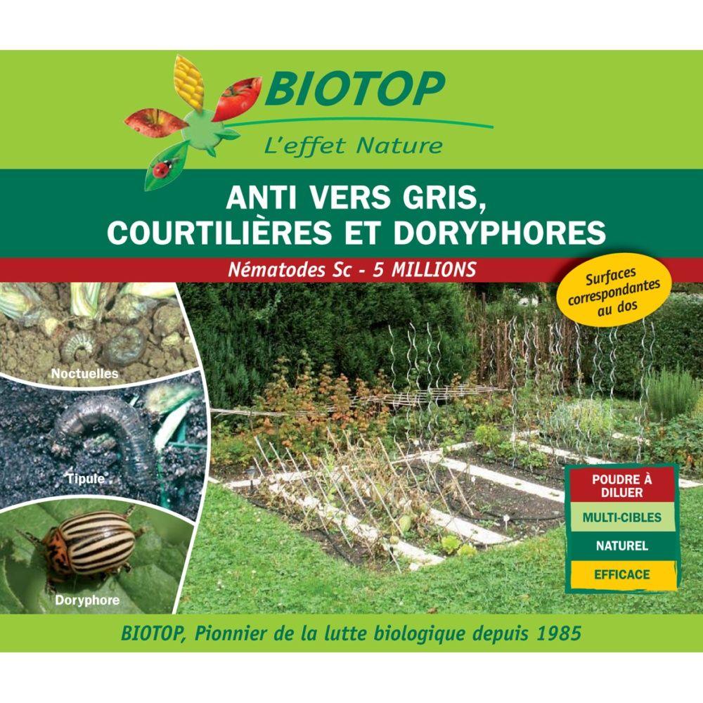Nématodes Sc contre vers gris (noctuelles, tipules, courtilières) 10m2 de traitement Biotop