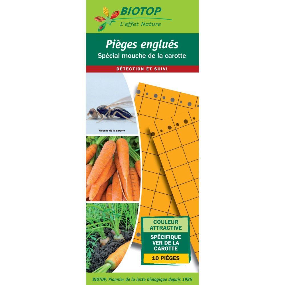 Lot de 10 pièges chromatiques (plaques engluées oranges) - Biotop